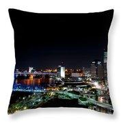Jacksonville Fl At Night Throw Pillow