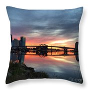 Jacksonville Sunrise Throw Pillow