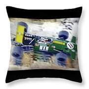 Jacky Ickx - Brabham Bt26 Throw Pillow