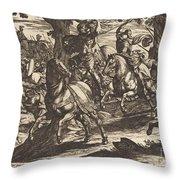 Jacob Kills Absalom, Son Of King David Throw Pillow