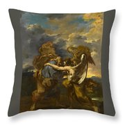 Jacob Wrestling With The Angel Throw Pillow