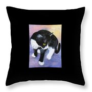 Jacob's First Day At Home Throw Pillow