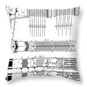 Jacquard Card For Silk Weaving Throw Pillow