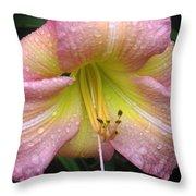 Jacqueline's Garden - Lily Glistening Throw Pillow