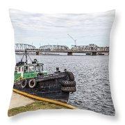 Jacquelyn Nicole Tug Sturgeon Bay Throw Pillow