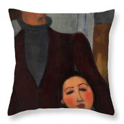 Jacques And Berthe Lipchitz Throw Pillow