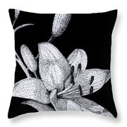 Jacqui's Lily Throw Pillow