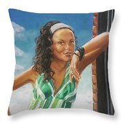 Jade Anderson Throw Pillow