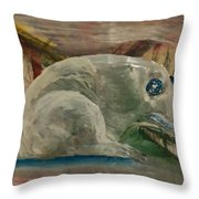 Jade Frog 2 Throw Pillow
