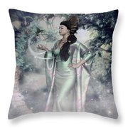 Jade Green Empress Throw Pillow