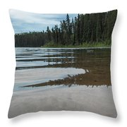 Jade Lake Throw Pillow