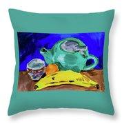 Jade Teapot  Throw Pillow