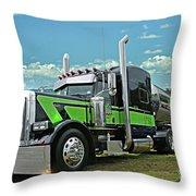 Jade Transport Peterbilt Throw Pillow