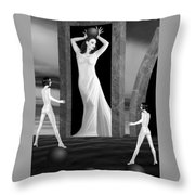 Jaedes Fortress - Self Portrait Throw Pillow