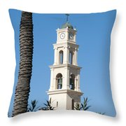 Jaffa, St Peter Church And Monastery Throw Pillow