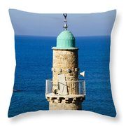 Jaffa, The Turret Of The El Baher Mosque Throw Pillow