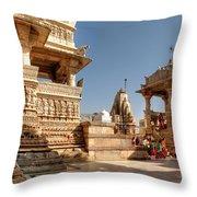 Jagdish Hindu Temple, Udaipur Throw Pillow