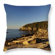 Jagged Coast Of Maine Throw Pillow