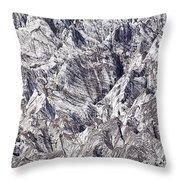 Jagged Glacier Throw Pillow