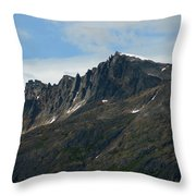 Jagged Mountain Throw Pillow