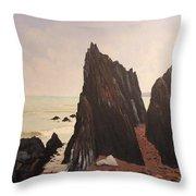 Jagged Rocks Throw Pillow