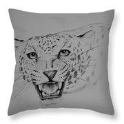 Jaguar Throw Pillow