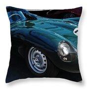 Jaguar D Type Throw Pillow