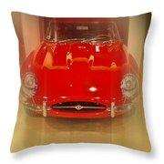 Jaguar E-type 1960s Throw Pillow