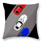 Jaguar E-type - 3 Times The Fun Throw Pillow