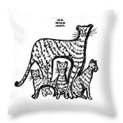 Jaguar Family Throw Pillow