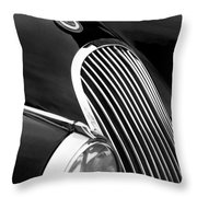 Jaguar Grille Black And White Throw Pillow