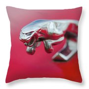 Jaguar Hood Ornament Throw Pillow