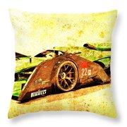 Jaguar Le Mans 2015, Race Car, Fast Car, Gift For Men Throw Pillow