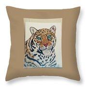 Jaguar Painting Throw Pillow
