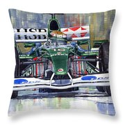 Jaguar R3 Cosworth F1 2002 Eddie Irvine Throw Pillow