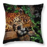 Jaguar Relaxing Throw Pillow