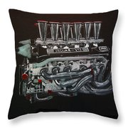 Jaguar V12 Twr Engine Throw Pillow
