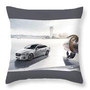 Jaguar Xj Ultimate 2013 Throw Pillow