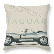 Jaguar Xk Ss Throw Pillow