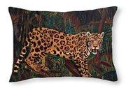 Jaguar's Domain Throw Pillow