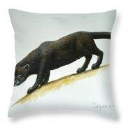 Jaguarundi Throw Pillow