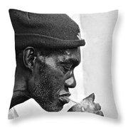 Jah, Rastafari Throw Pillow
