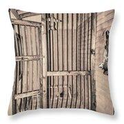 Jail House Interior Throw Pillow