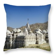 Jain Temple Of Ranakpur Throw Pillow