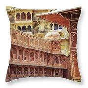 Jaipur City Palace Throw Pillow