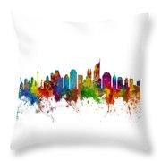 Jakarta Skyline Indonesia Throw Pillow