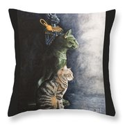 Jake And The Ancestors-pet Portrait Throw Pillow