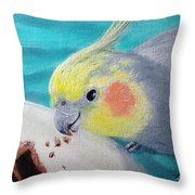 Jake And The Cake Throw Pillow