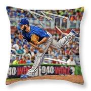 Jake Arrieta Chicago Cubs Pitcher Throw Pillow