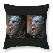 Jake Sully - Gently Cross Your Eyes And Focus On The Middle Image Throw Pillow